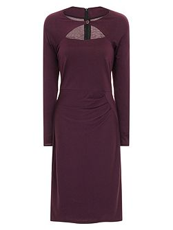 Mock Cardi Dress in Clever Fabric