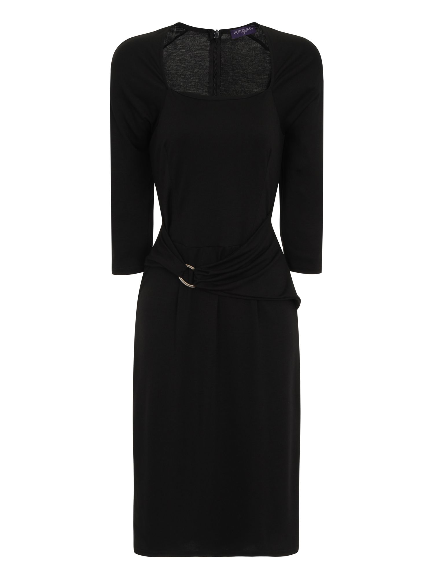 HotSquash Silver Buckle Dress in Clever Fabric, Black
