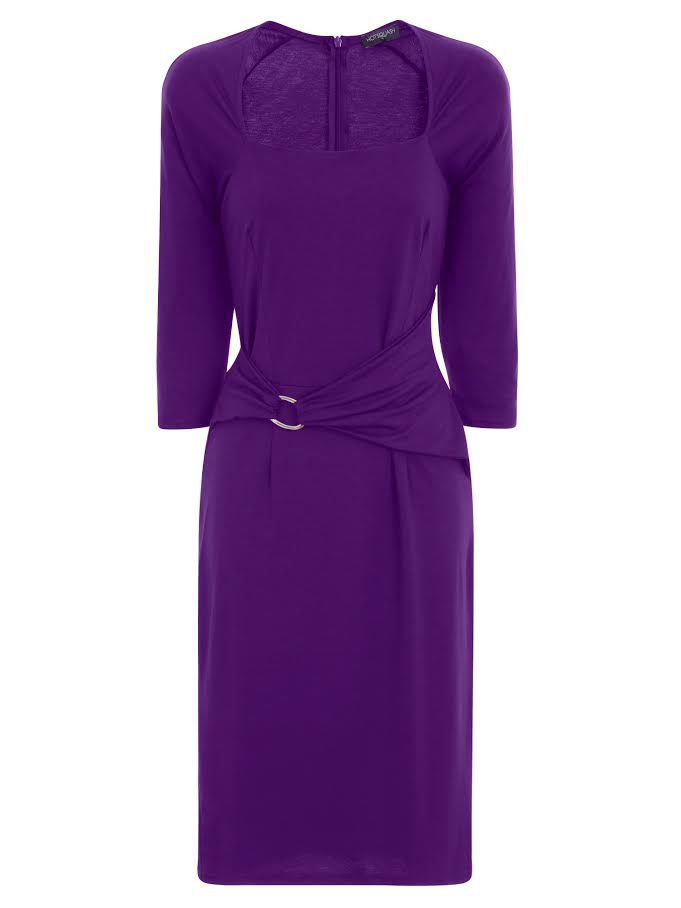 HotSquash Silver Buckle Dress in Clever Fabric, Purple