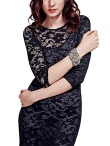 HotSquash One-Sleeved Lace Dress in Clever Fabric