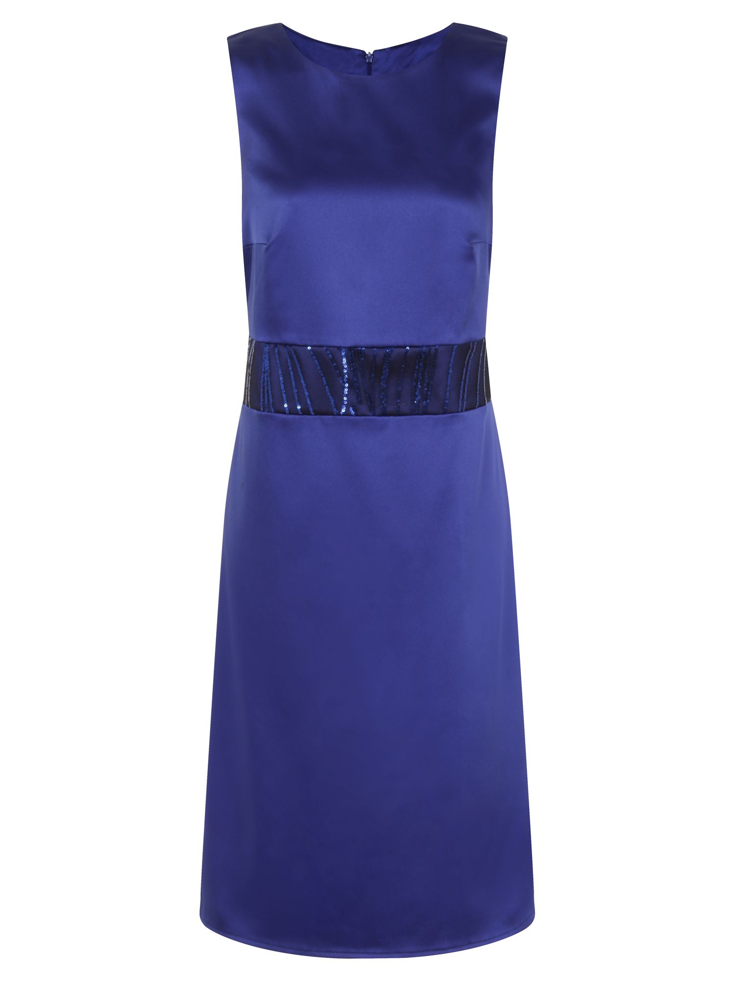 HotSquash Sequin Wasitband Dress in Clever Fabric, Royal Blue