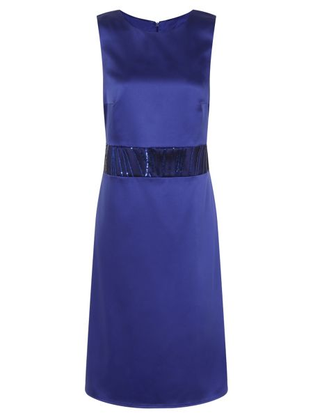 HotSquash Sequin Wasitband Dress in Clever Fabric