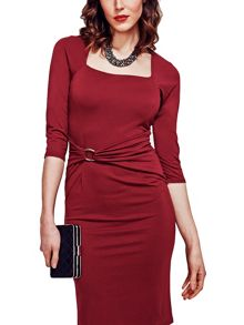 HotSquash Silver Buckle Dress in Clever Fabric