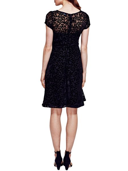 HotSquash Velvet Fit n Flare Dress in Clever Fabric
