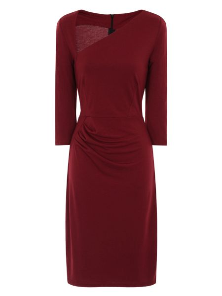 HotSquash Asymmetric Neck Dress in Clever Fabric