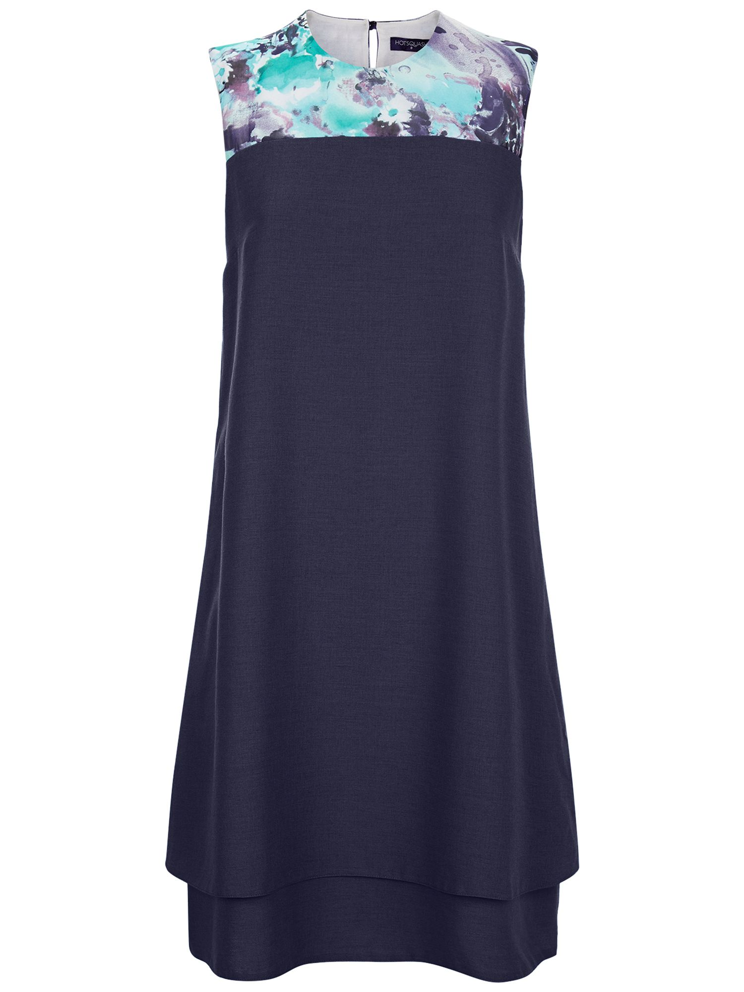 HotSquash Double Layered Dress in CoolFresh, Blue