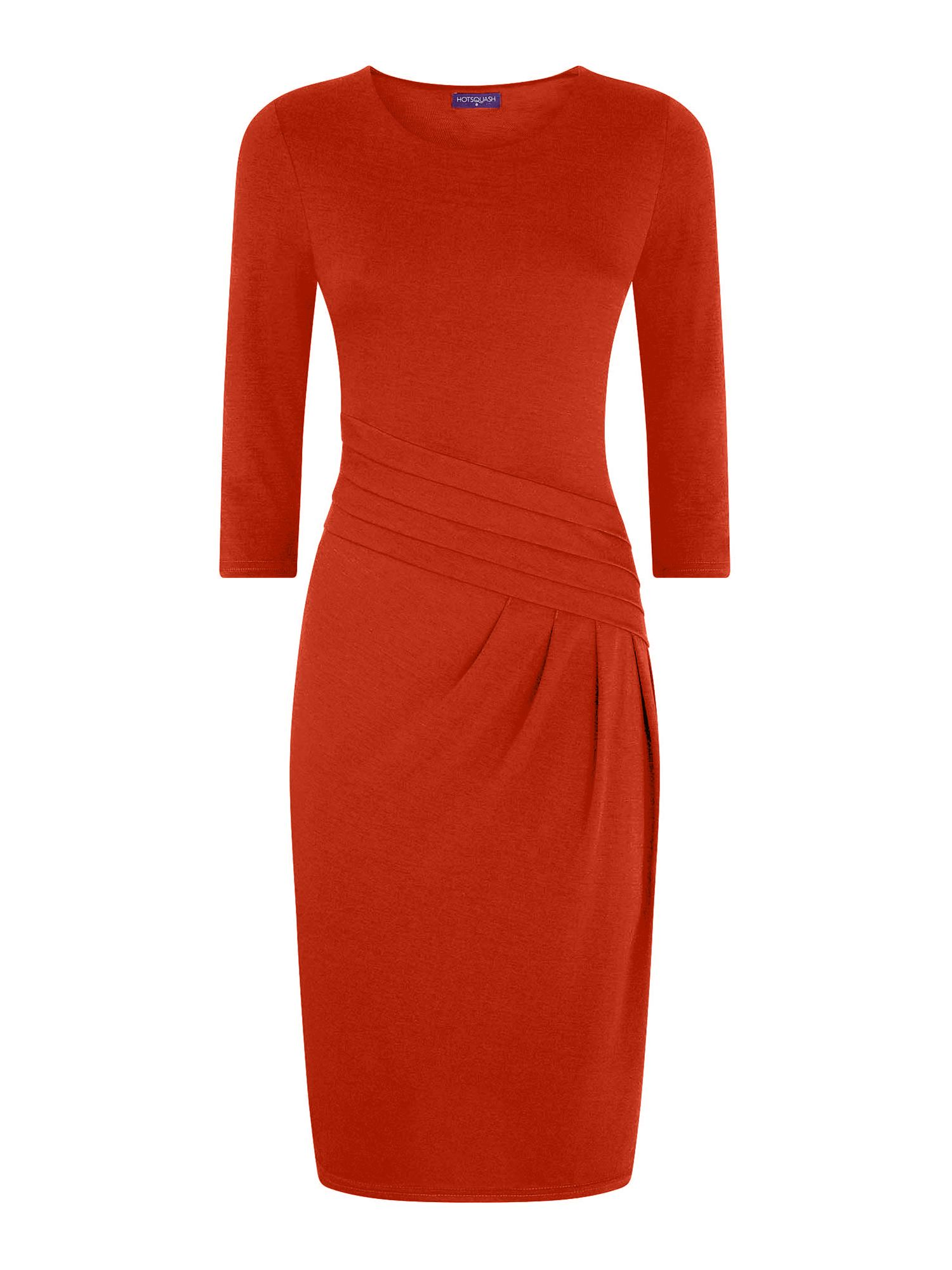 HotSquash Long Sleeved Knee length Dress, Orange