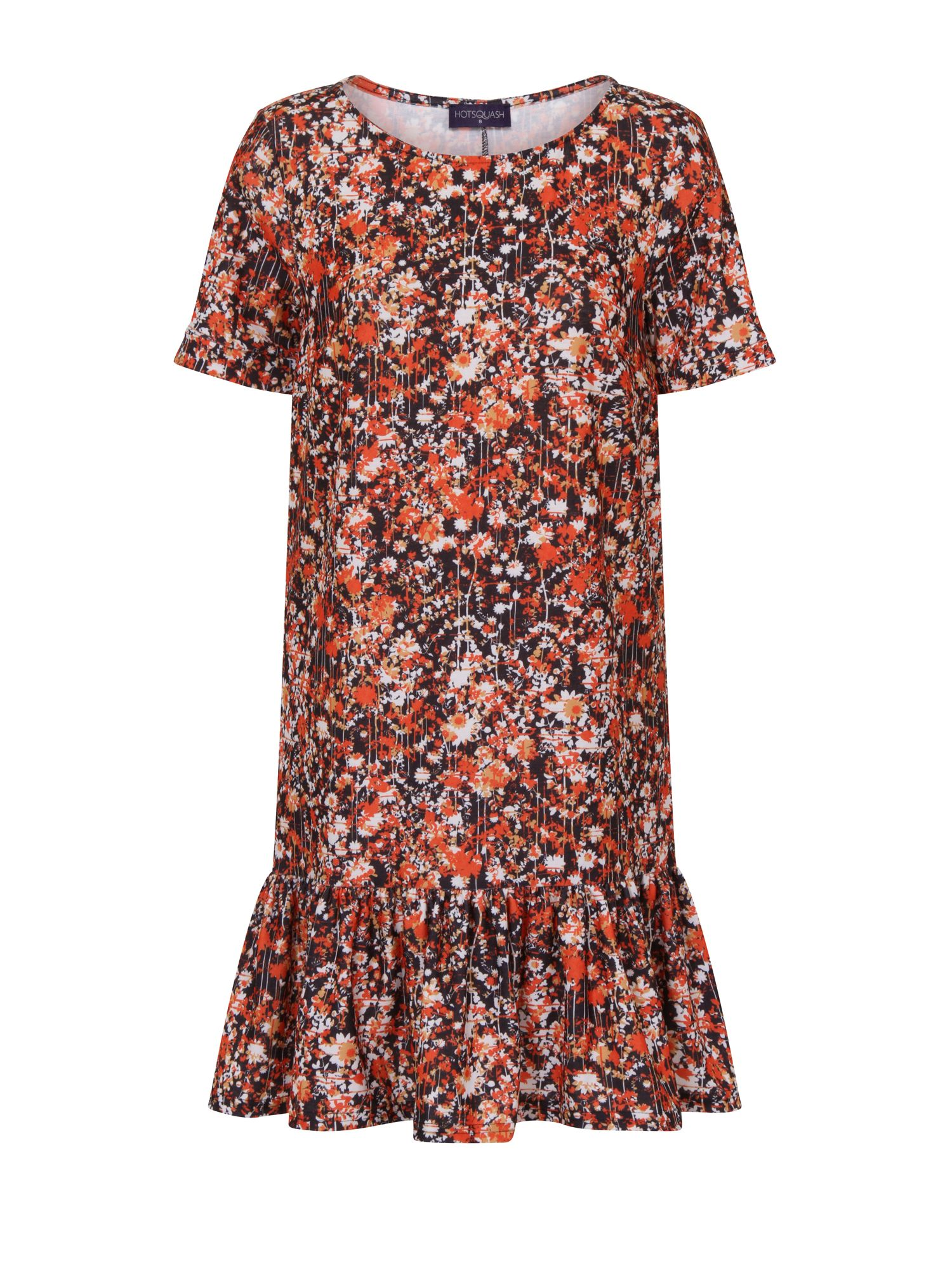 HotSquash Floral Drop Waist Dress, Red