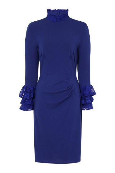 HotSquash Clever Fabric HighNeck Lace Detail Dress