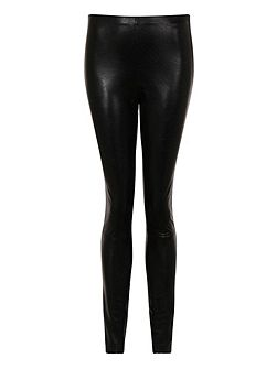 Leather Look Skinny Fit Trousers