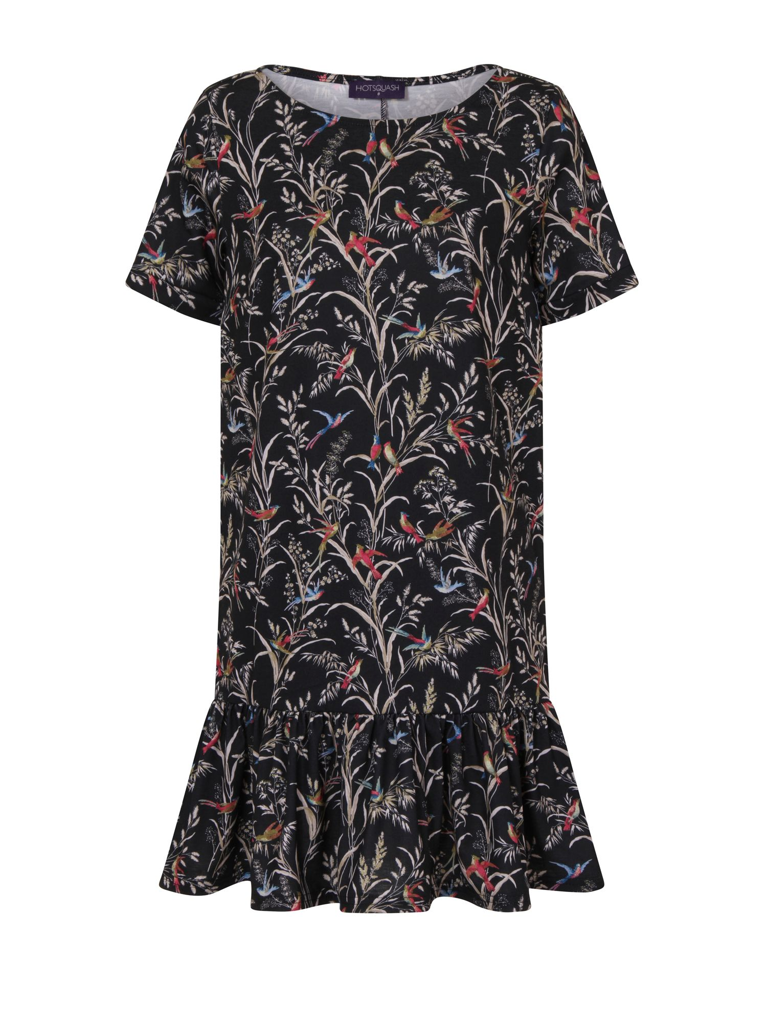 HotSquash Floral Drop Waist Dress, Black