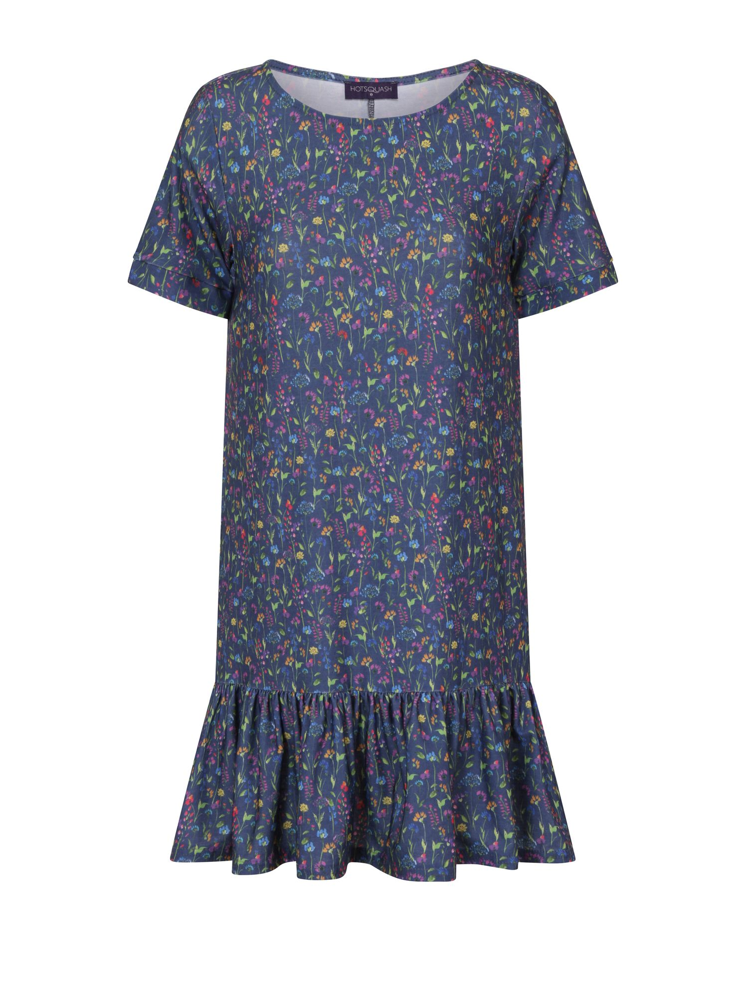 HotSquash Floral Drop Waist Dress, Blue