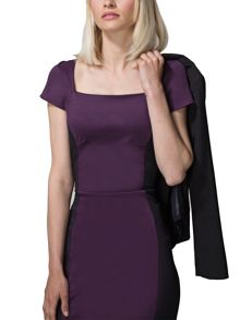 HotSquash Square Necked Ponte Dress in Clever