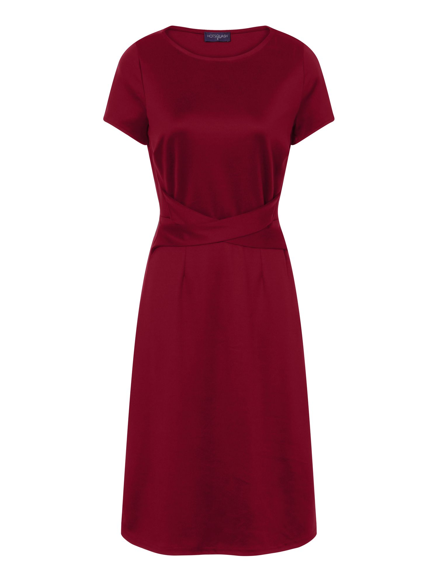 HotSquash Midi Office Ponte Dress in Clever Fabric, Red
