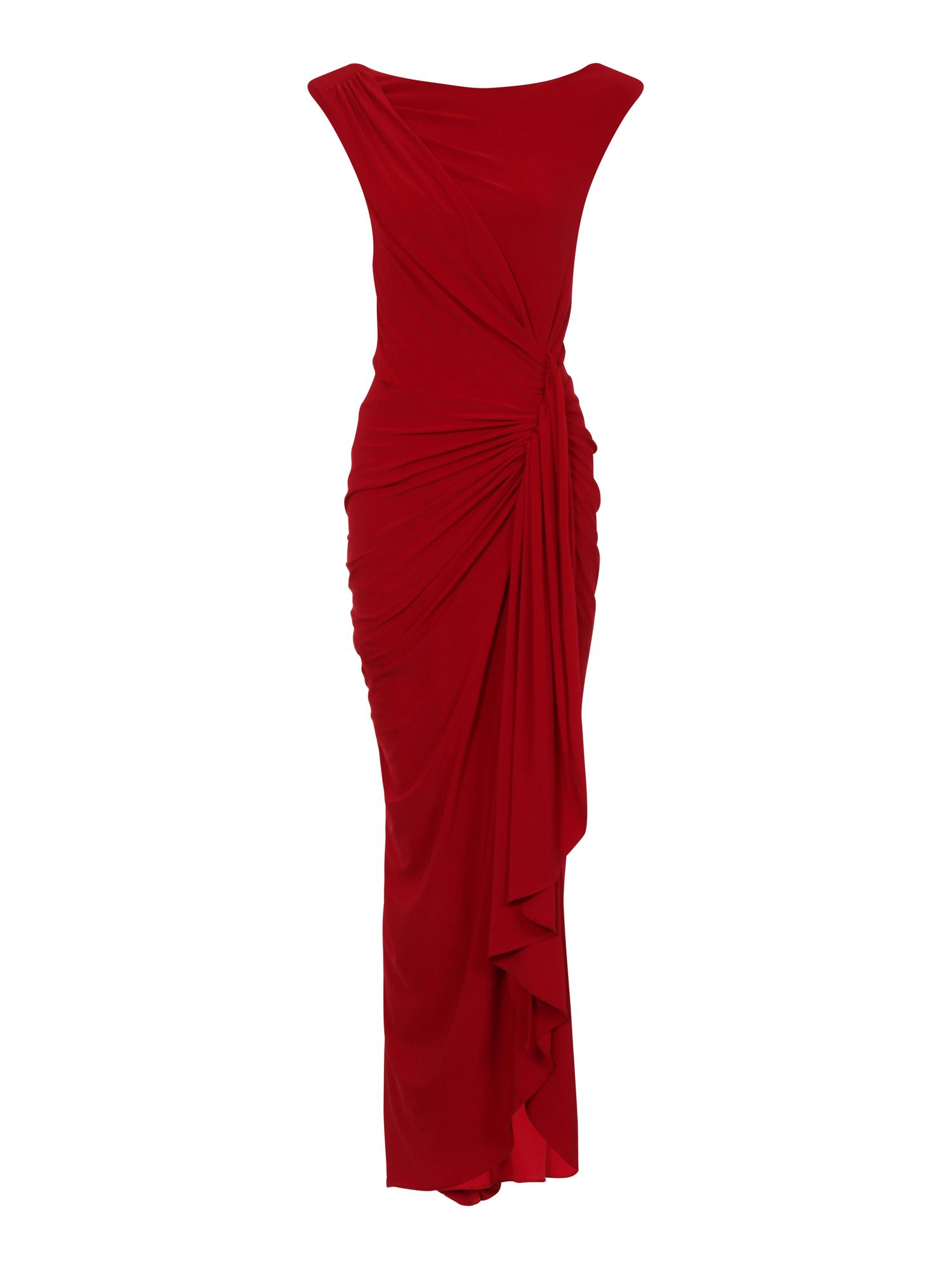 HotSquash Grecian Maxi Dress in Clever Fabric, Red