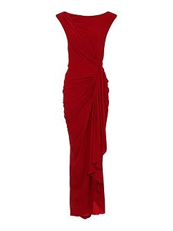 Grecian Maxi Dress in Clever Fabric