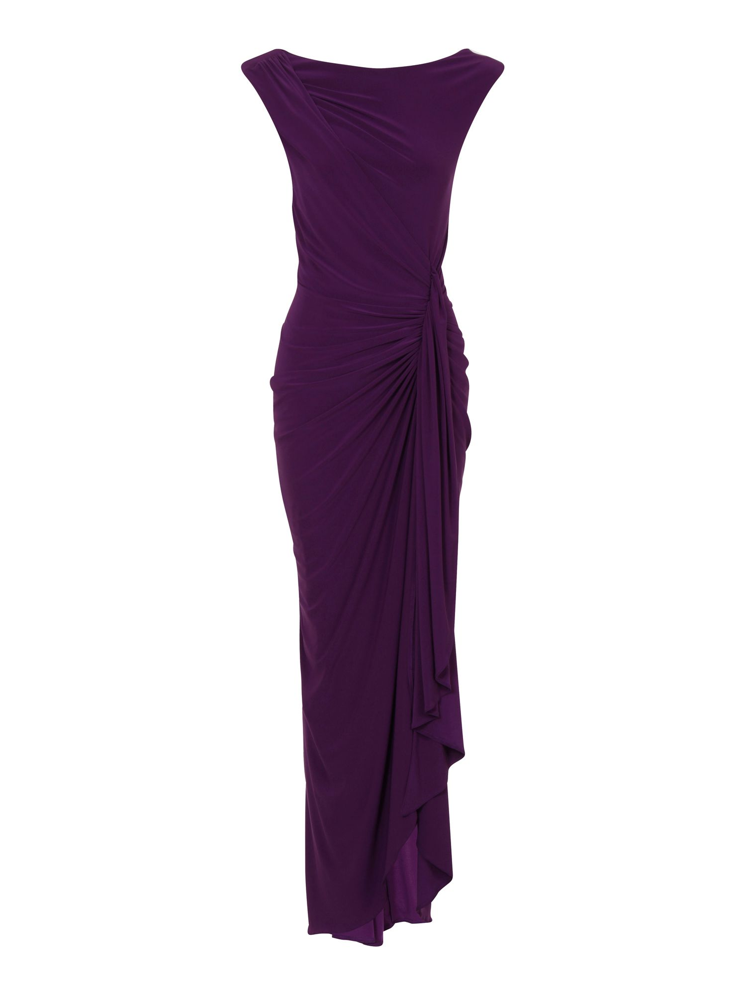 HotSquash Grecian Maxi Dress in Clever Fabric, Purple