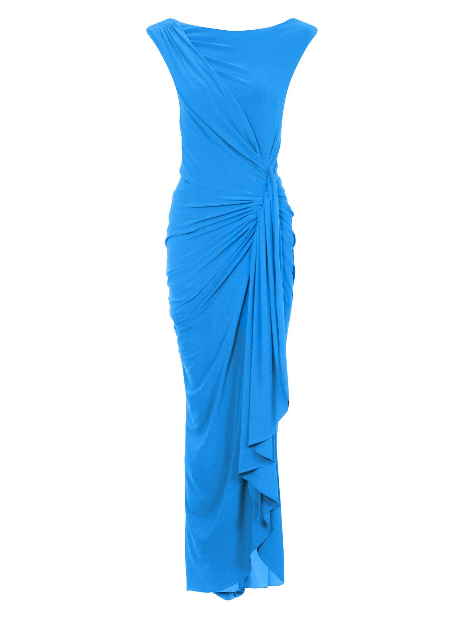 HotSquash Grecian Maxi Dress in Clever Fabric, Blue