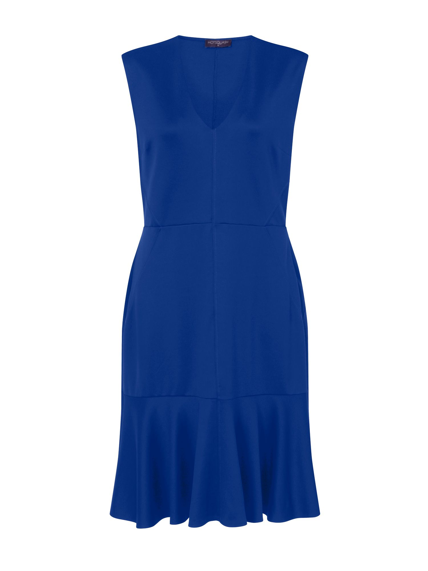 HotSquash Drop Waist Ponte Dress in Clever Fabric, Blue