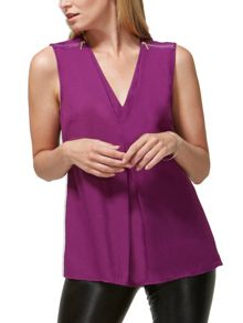 HotSquash Top with Zip Detail in Clever Fabric