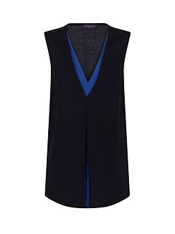 V Neck Crepe Top in CoolFresh Fabric