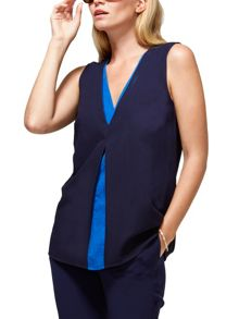 HotSquash V Neck Crepe Top in CoolFresh Fabric