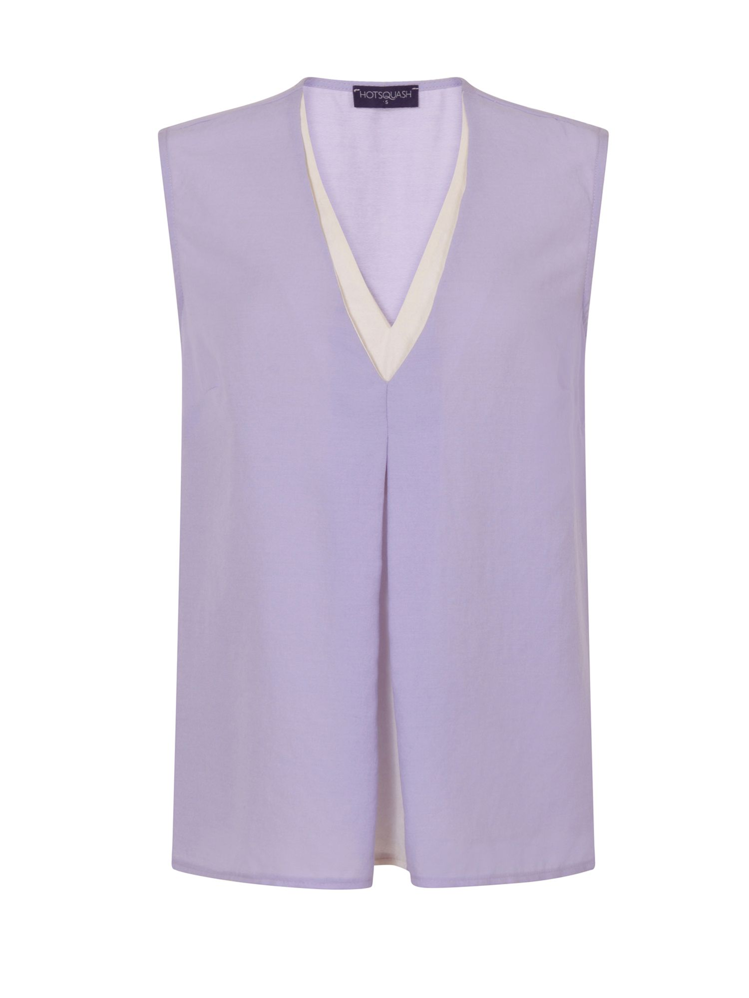 HotSquash V Neck Crepe Top in CoolFresh Fabric, Lilac