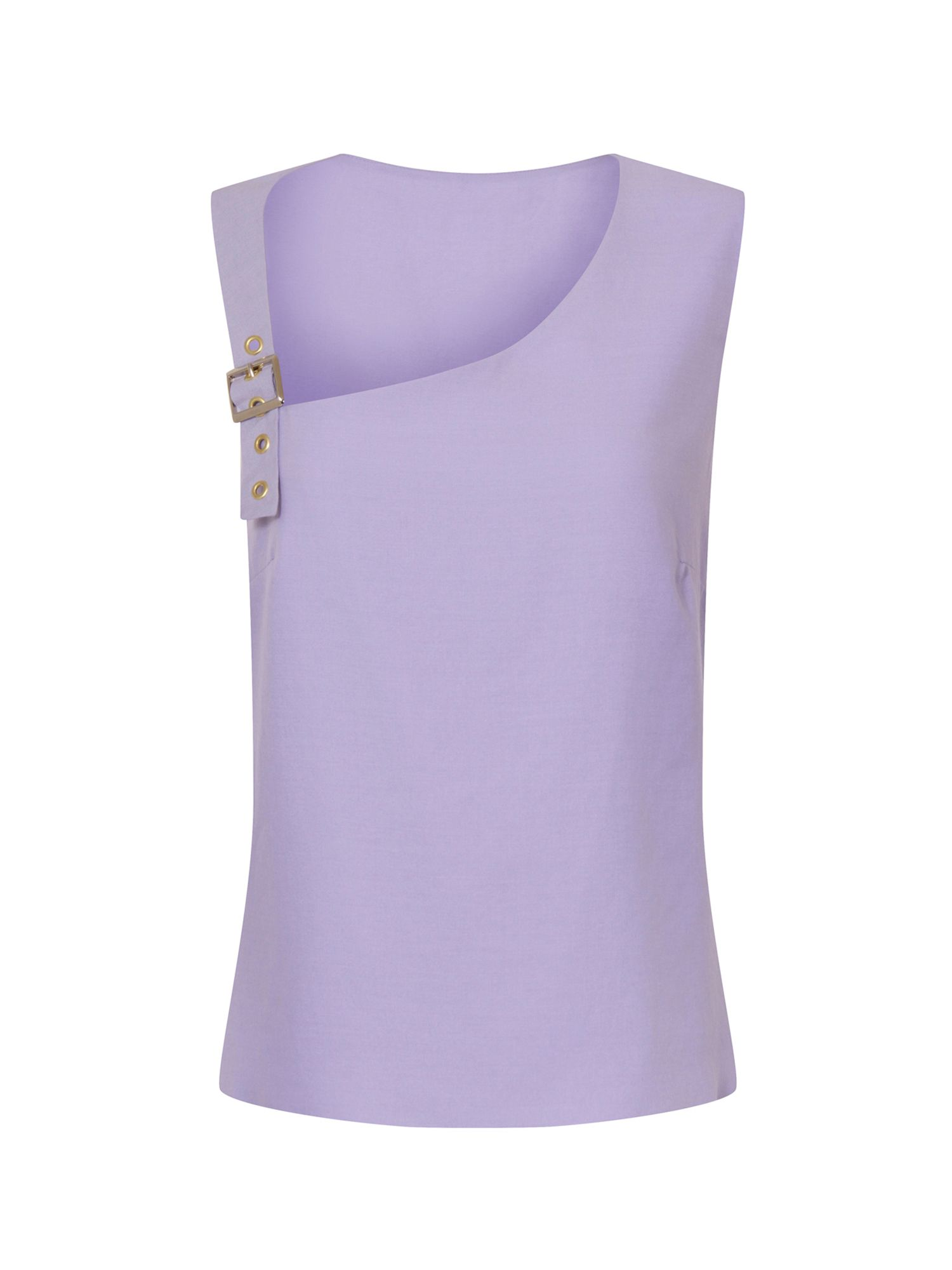 HotSquash Buckle Shoulder Top in CoolFresh Fabric, Lilac