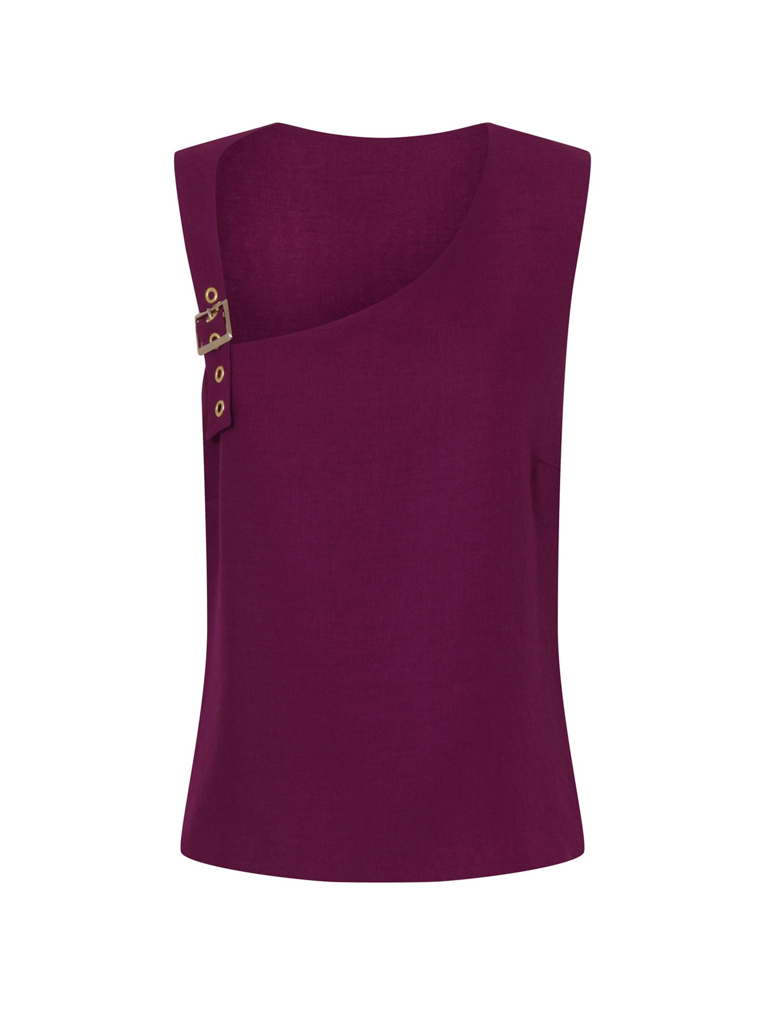 HotSquash Buckle Shoulder Top in CoolFresh Fabric, Purple