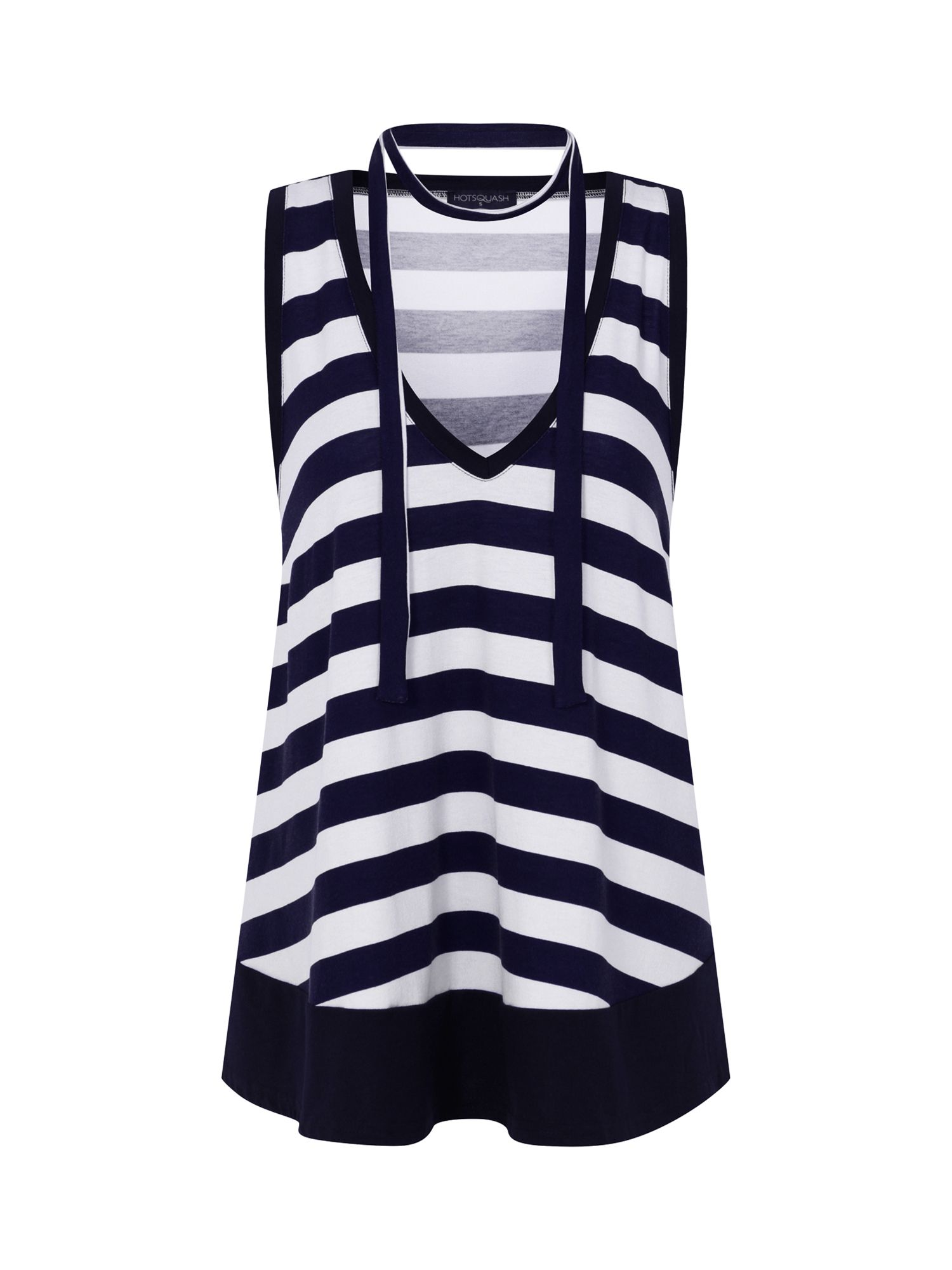 HotSquash Stripe Top with Neck Tie in CoolFresh, Multi-Bright