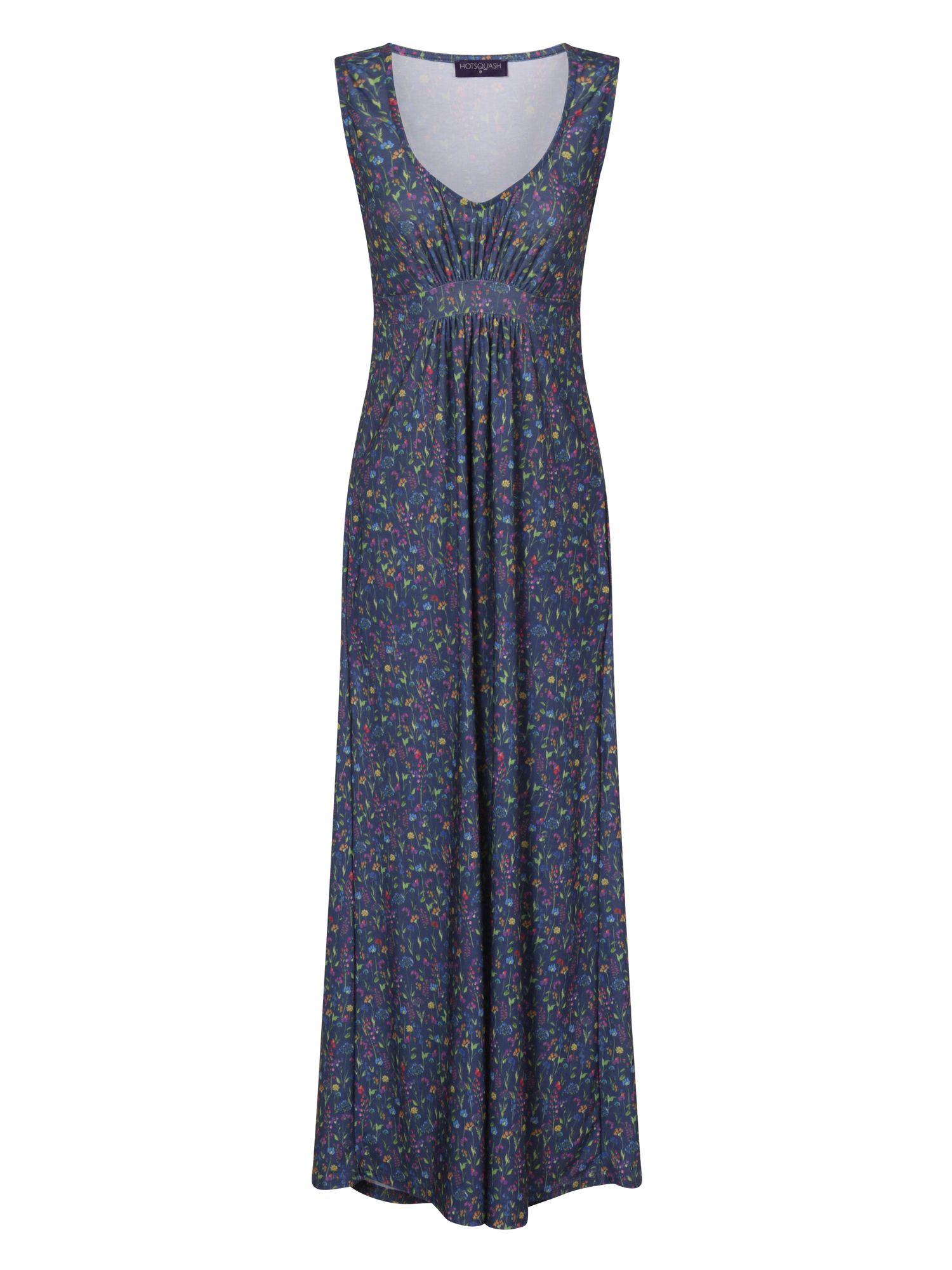 HotSquash Empire Line Jersey Maxi Dress, Light Blue
