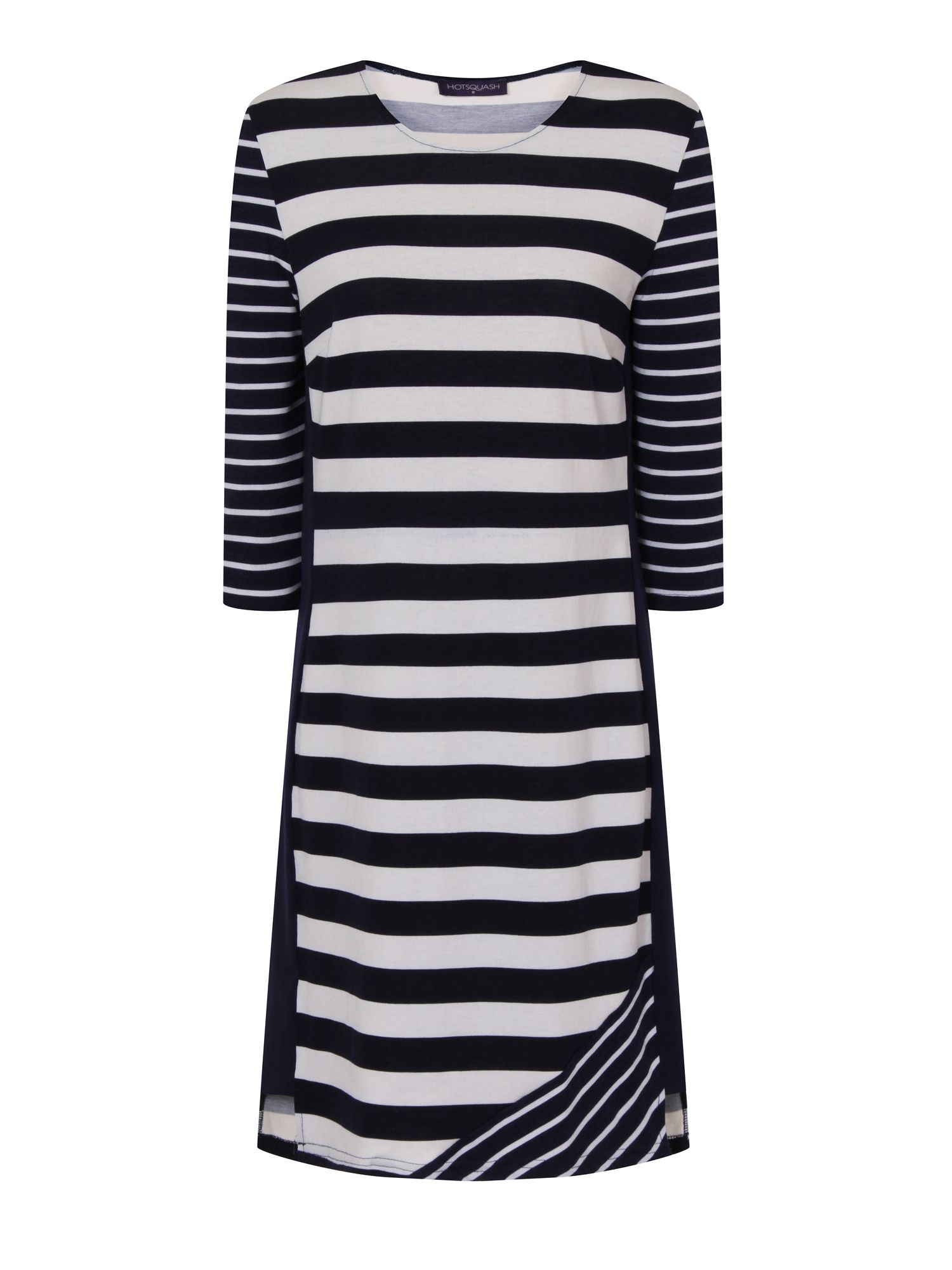HotSquash Striped York Dress in CoolFresh Fabric, Multi-Coloured