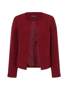 HotSquash Collarless Jacket in Clever Fabric