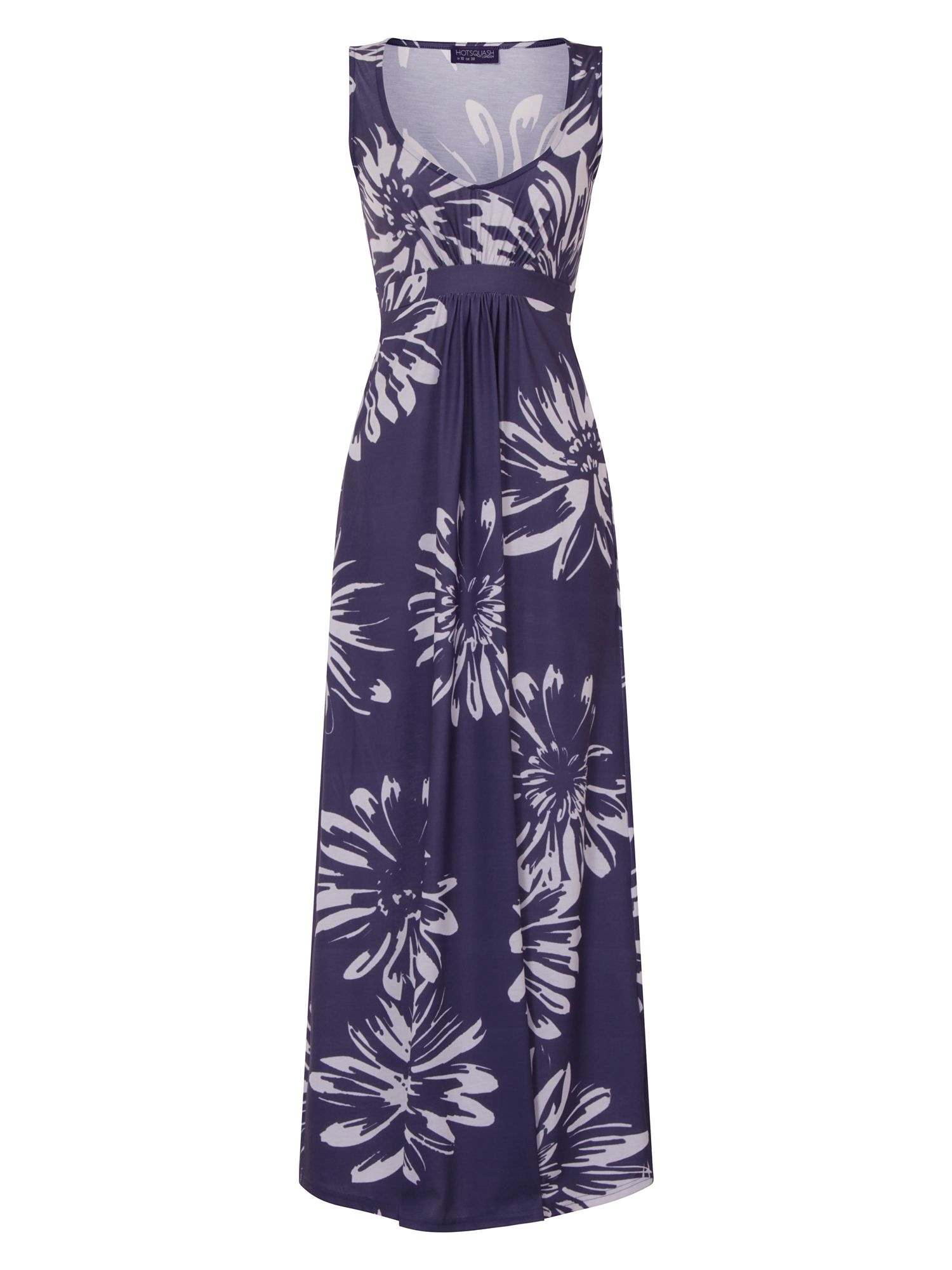HotSquash Empire Line Jersey Maxi Dress, Royal Blue