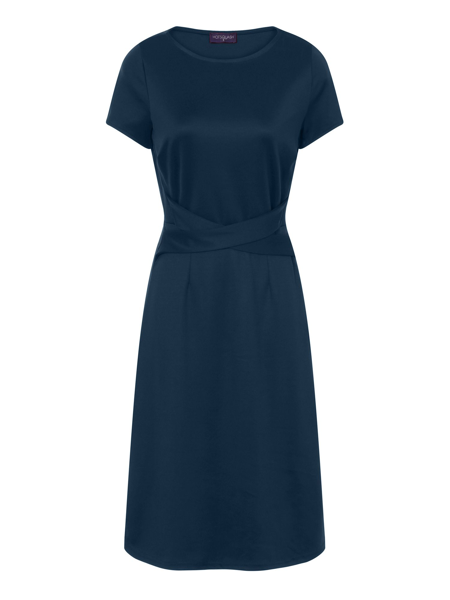 HotSquash Midi Office Ponte Dress in Clever Fabric, Teal