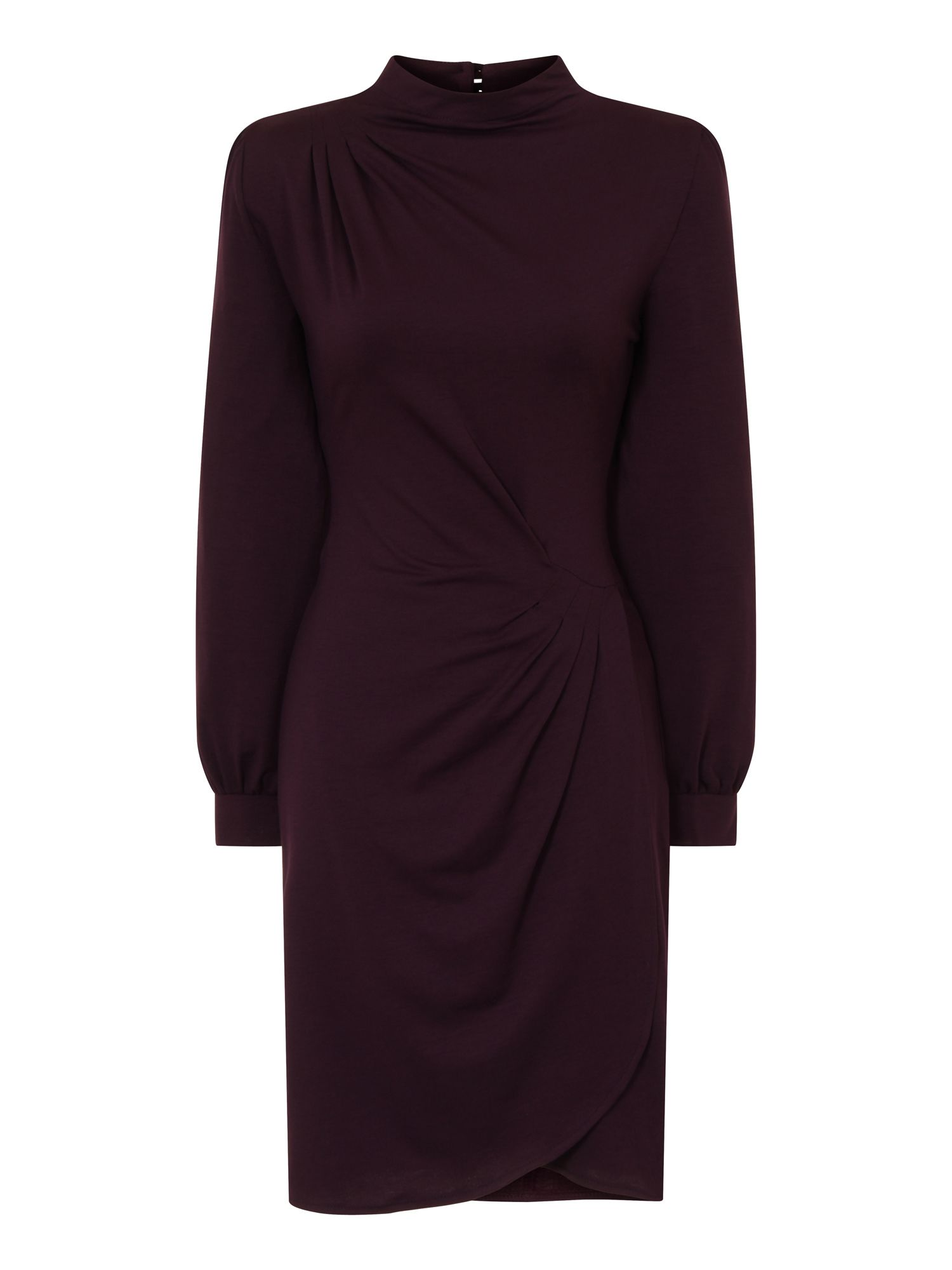 HotSquash Long Sleeve Thermal Agnes Dress, Damson