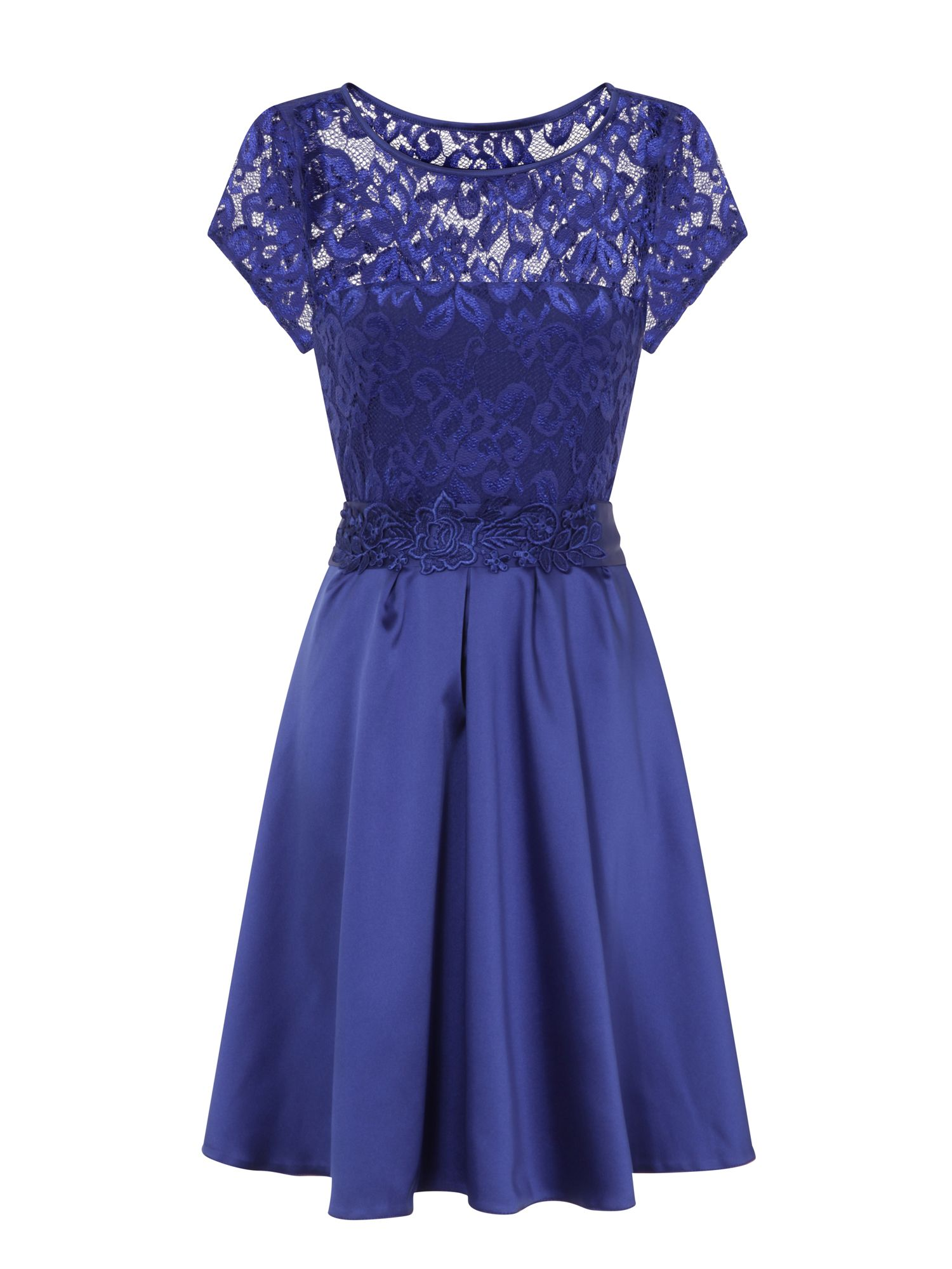 HotSquash Lace Ana Party Dress in Clever Fabric, Royal Blue