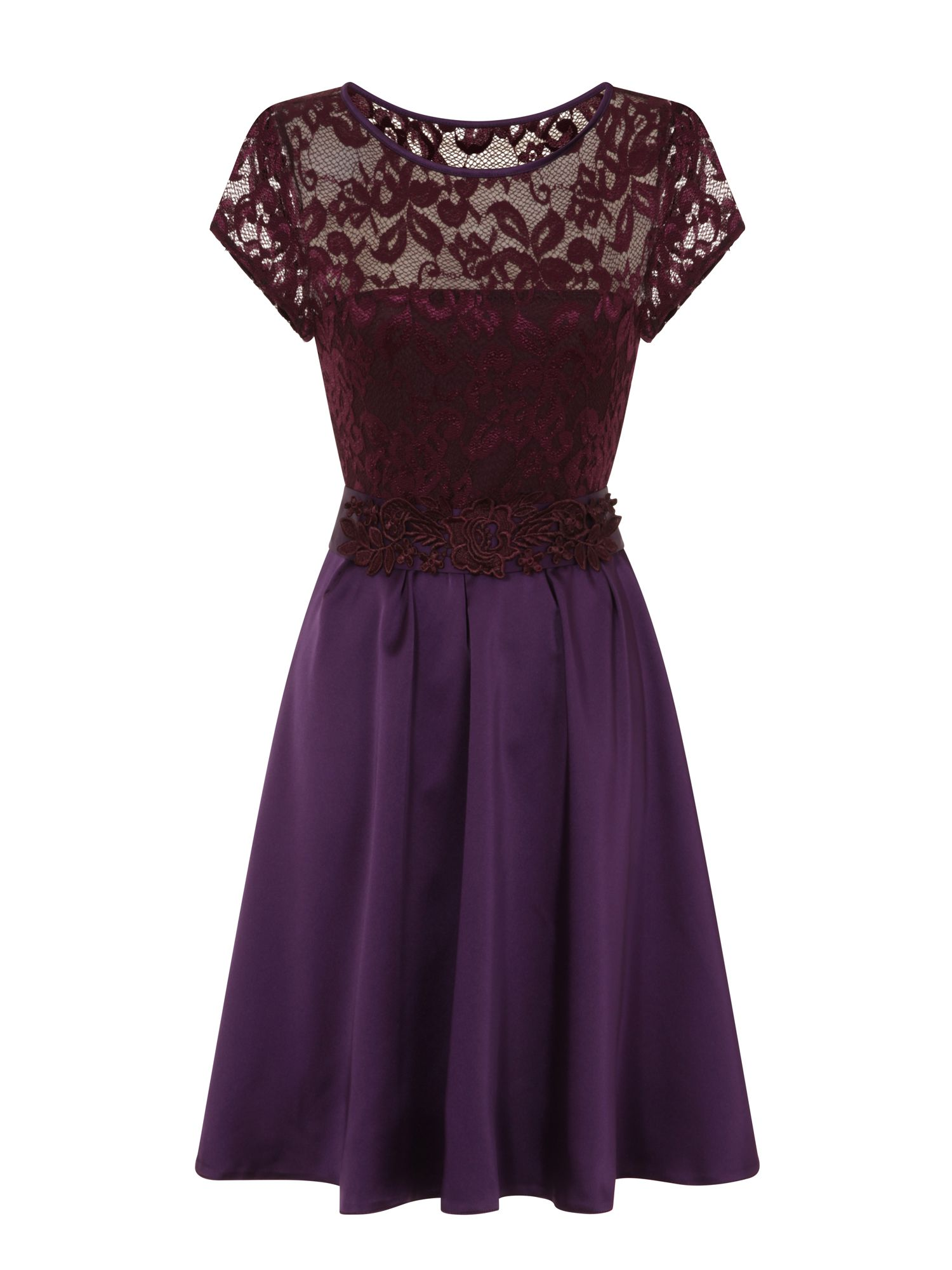 HotSquash Lace Ana Party Dress in Clever Fabric, Purple