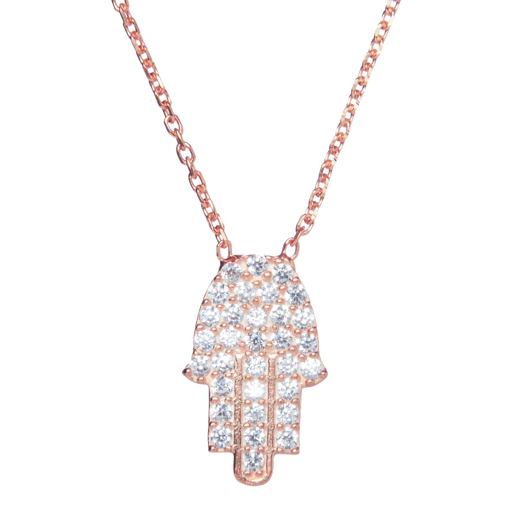 Jewelled hamsa hand necklace