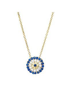 Gold medium evil eye necklace