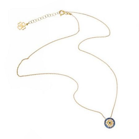Lucky Eyes Gold medium evil eye necklace