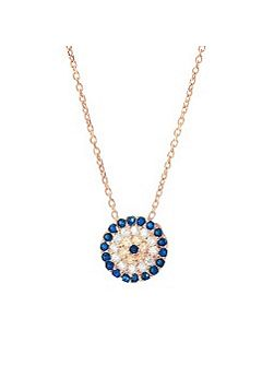 Rose medium evil eye necklace