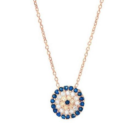 Lucky Eyes Rose medium evil eye necklace