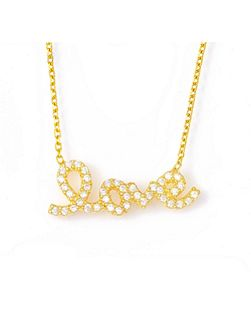 Gold `love` necklace