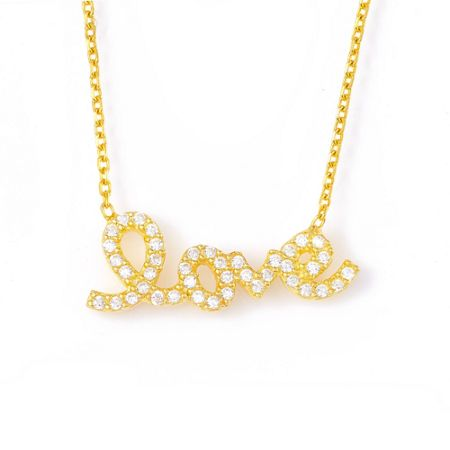 Lucky Eyes Gold `love` necklace