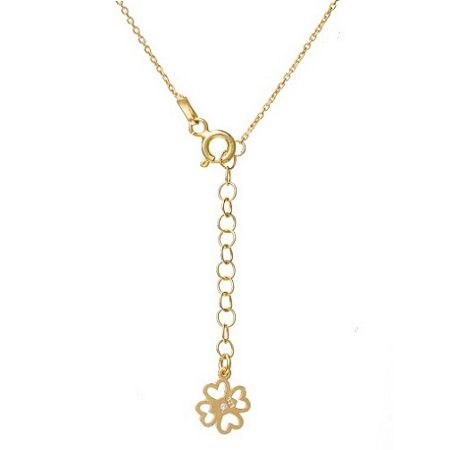 Lucky Eyes Gold short crystal necklace