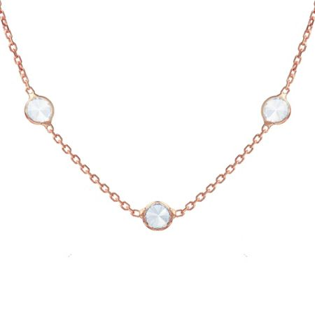 Lucky Eyes Rose short crystal necklace