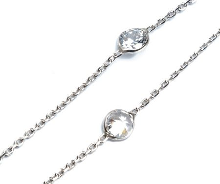 Lucky Eyes Long crystal necklace