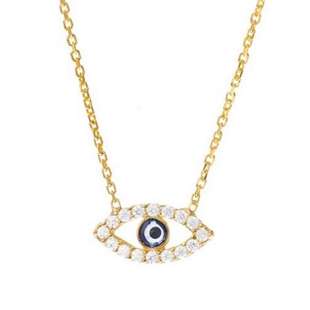Lucky Eyes Gold evil eye necklace