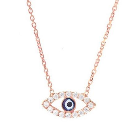 Lucky Eyes Rose evil eye necklace